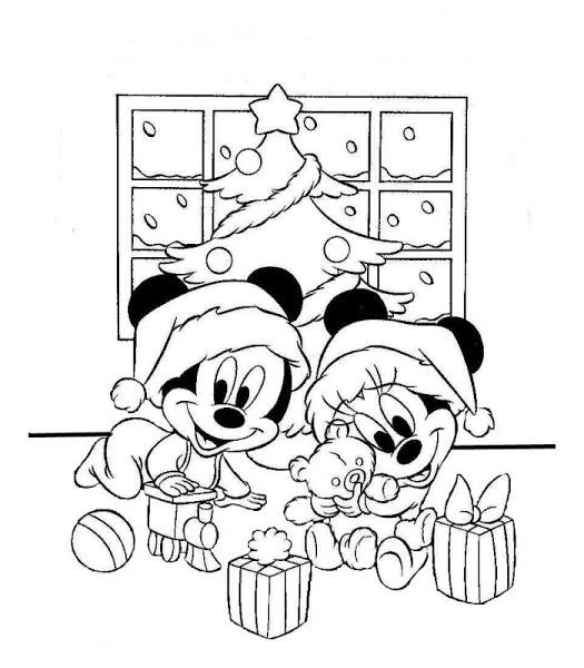 Imágenes con Dibujos de Mickey Mouse de Navidad para colorear ...
