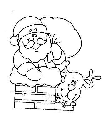 Imagenes de trineos navidenos para colorear
