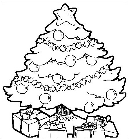 Hermosa árbol De Navidad Para Imprimir Para Colorear Modelo - Ideas ...