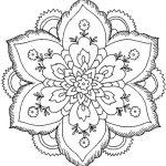 60 Imágenes de Mandalas para colorear dibujos para descargar e imprimir