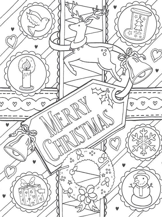 Imágenes Para Colorear De Merry Christmas Colorear Imágenes