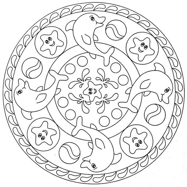 Dibujos Para Colorear Mandalas Infantiles Imagesacolorier