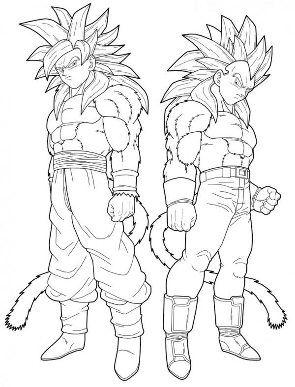 Dibujos Para Colorear De Goku Fase 10 Fotos De Goku Para Colorear