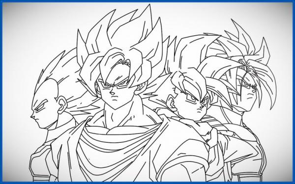 60 Imágenes de Dragon Ball Z para colorear dibujos | Colorear imágenes