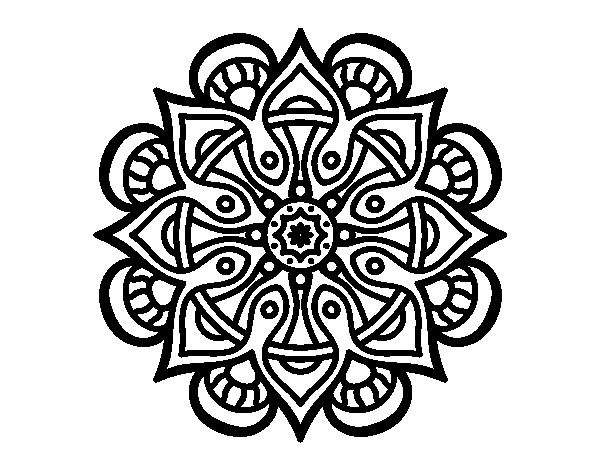 Mandalas Faciles Para Colorear Mandalas Para Colorear Muy: 60 Imágenes De Mandalas Para Colorear Dibujos Para