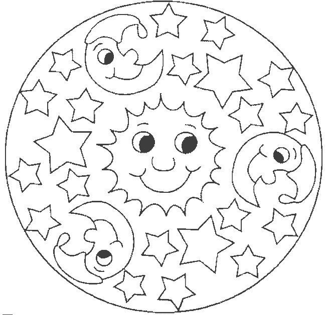 Imágenes para colorear de Mandalas Infantiles | Colorear imágenes