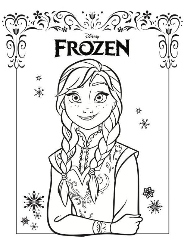 Imágenes Para Colorear De Frozen Para Descargar E Imprimir