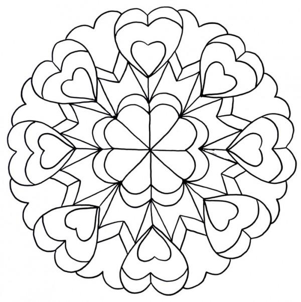 Mandalas Para Colorear 14 De Febrero