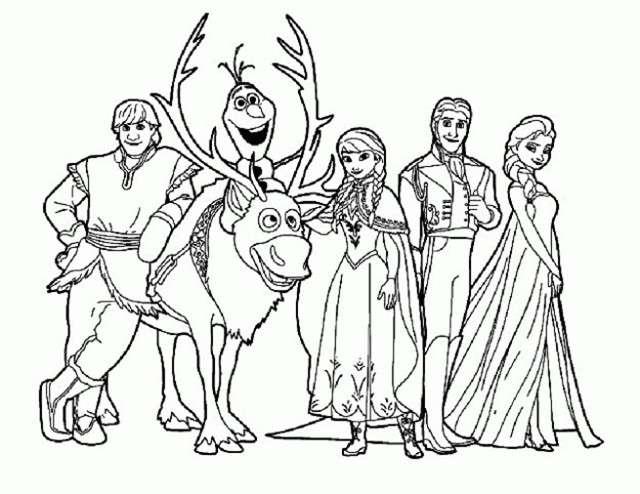 49 Personajes De Disney Para Descargar Imprimir Y: Imágenes Para Colorear De Frozen Para Descargar E Imprimir