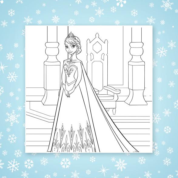 Imágenes para colorear de Frozen para descargar e imprimir ...