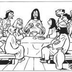 Imágenes de Jesús en Semana Santa para colorear