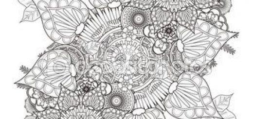 Dibujos Para Colorear De Flores Dificiles