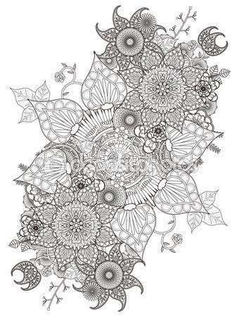 Flores para colorear, fáciles, dificiles y hermosas | Colorear imágenes