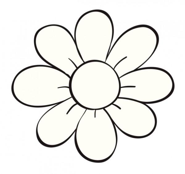Flores para colorear f ciles dificiles y hermosas colorear im genes - Fleur dessin facile ...