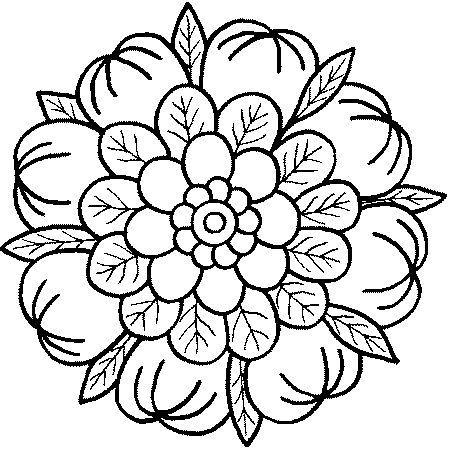 Flores Hermoso Dibujos De Mandalas Faciles | www.imagenesmi.com