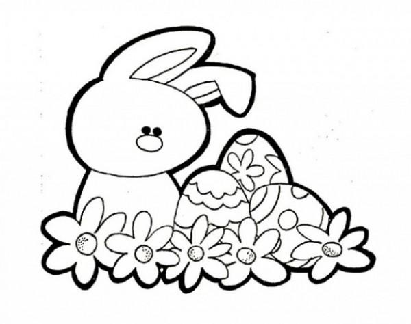 Dibujos De Conejitos Para Imprimir Y Colorear: Dibujos De Huevos De Pascua Para Colorear