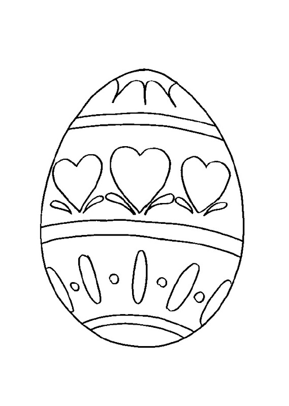 Dibujos de Huevos de Pascua para colorear   Colorear imágenes