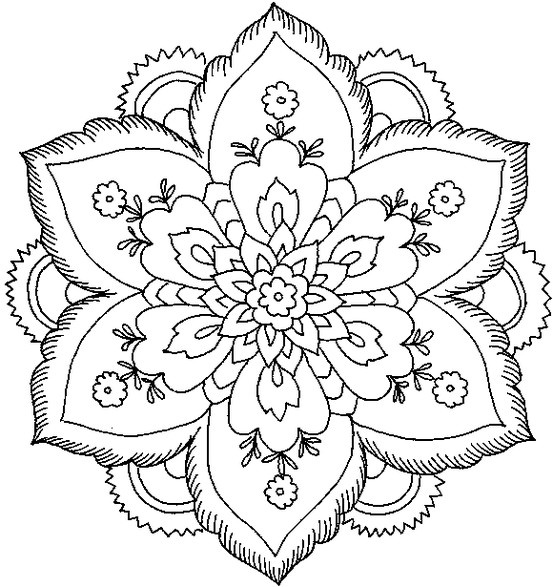 Flores Para Colorear Faciles Dificiles Y Hermosas Colorear