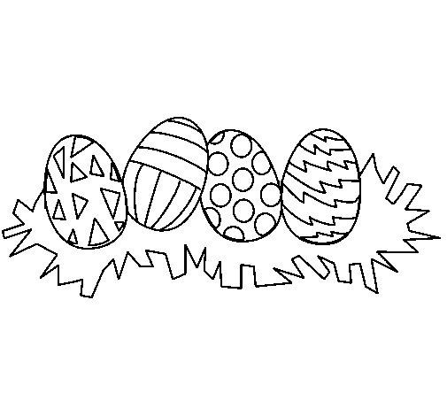 Imágenes de Huevos de Pascua para colorear | Colorear imágenes