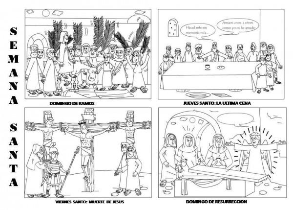 Semana Santa Sevilla Colorear: Imágenes De Semana Santa Dibujos Para Colorear