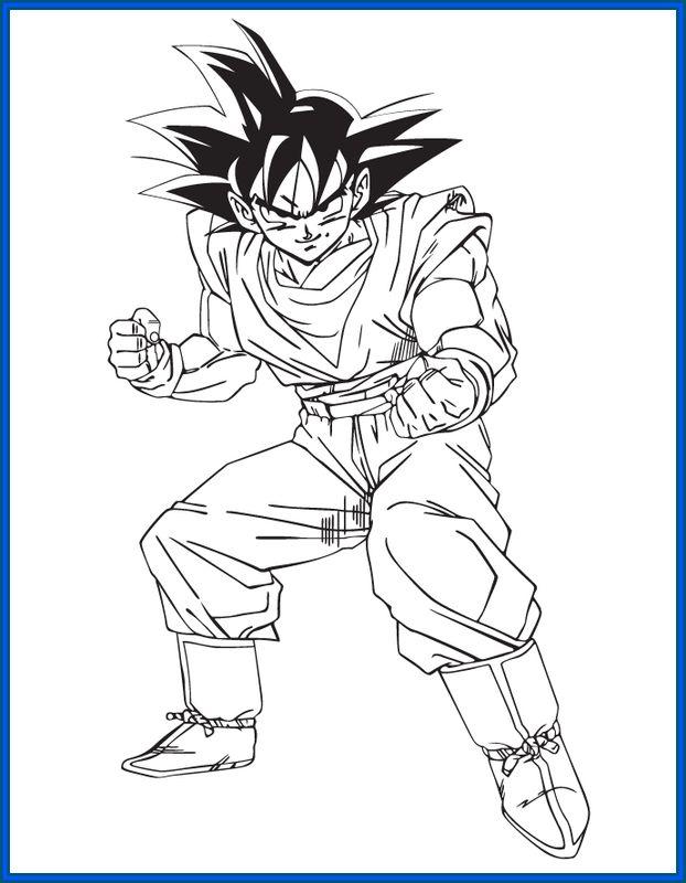 Dibujos De Goku Y Sus Transformaciones Para Colorear Colorear Imagenes