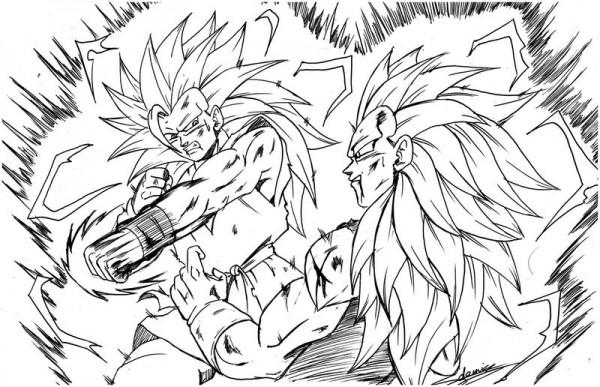 Dibujos Para Colorear Goku Para Imprimir: Dibujos De Goku Y Sus Transformaciones Para Colorear