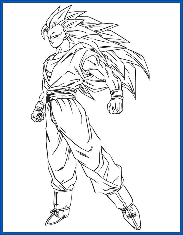 Dibujos de goku y sus transformaciones para colorear for Disegnare online 3d