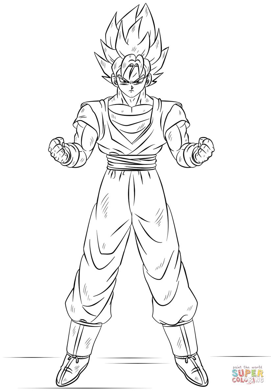 Dibujos de Goku y sus transformaciones