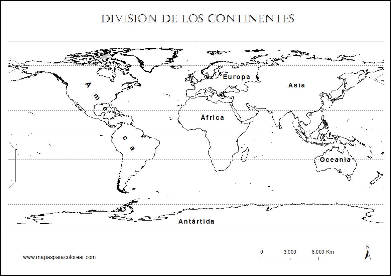 60 Mapas de paises y continentes para colorear con nombres ...