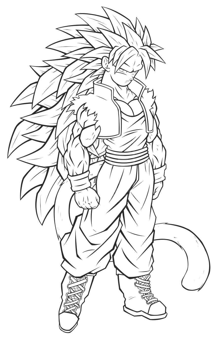 Dibujos de goku y sus transformaciones para colorear for Dbz coloring pages goku