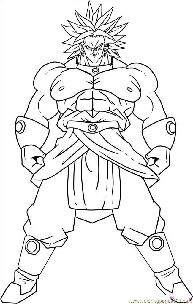 Dibujos de Goku y sus transformaciones para colorear