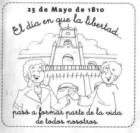 Dibujos del 25 de mayo de 1810 imágenes para colorear | Colorear ...