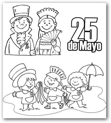 Dibujos Del 25 De Mayo De 1810 Imágenes Para Colorear Colorear