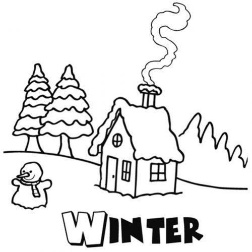 Dibujos Para Colorear Sobre El Invierno
