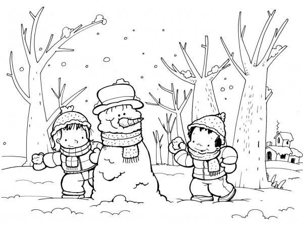 Dibujos Para Colorear Sobre El Invierno Colorear Imágenes