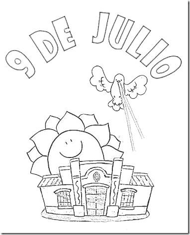 9 de julio dibujos para colorear