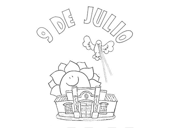 Imágenes Del 9 De Julio Para Colorear Sobre La Independencia