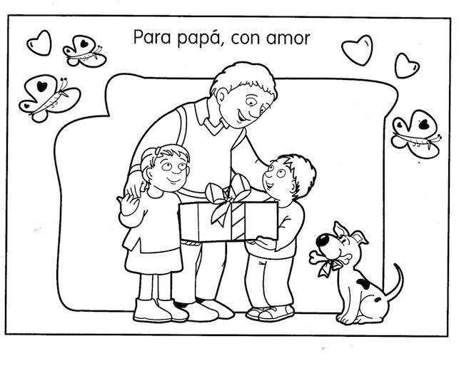 60 Imágenes Del Día Del Padre Dibujos Para Colorear Descargar
