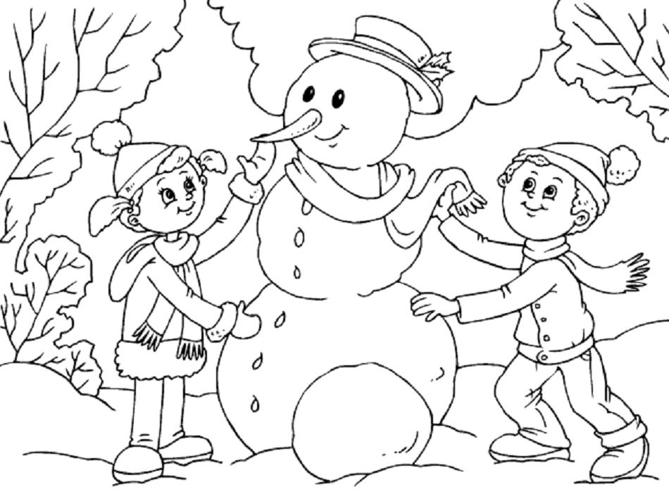 Dibujos para colorear sobre el invierno | Colorear imágenes