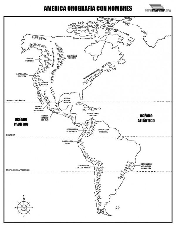 Dibujos de Mapas de América y Paises para colorear | Colorear imágenes