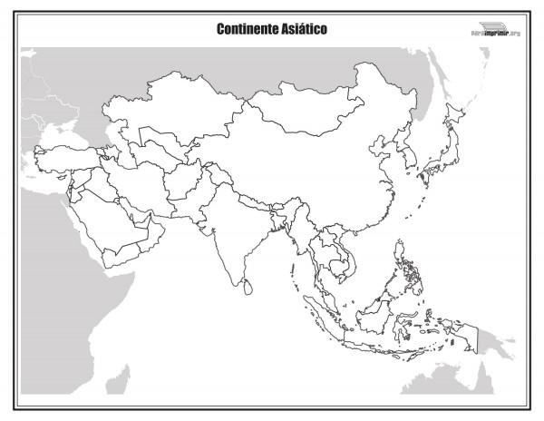 Niños De Paises Para Pintar: Dibujos De Mapas De Asia Y Paises Para Colorear