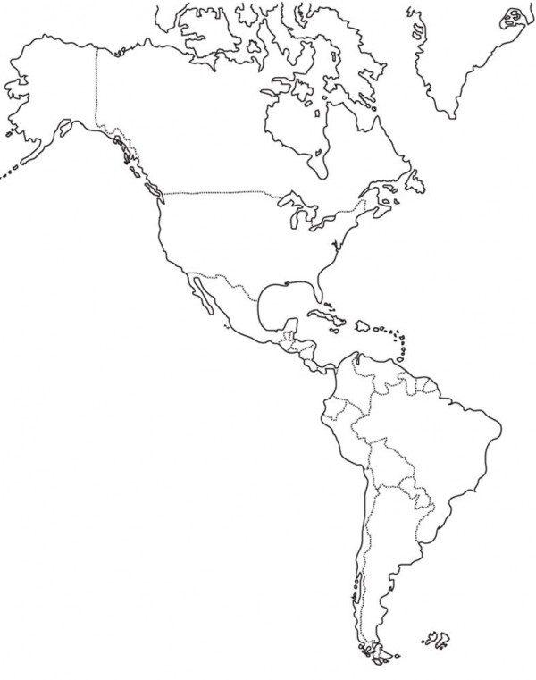 Mapa America Para Imprimir.Dibujos De Mapas De America Y Paises Para Colorear Colorear Imagenes