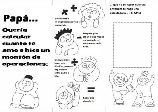 Dibujos Del Dia Del Padre Coloreados: Dibujos Con Frases Para Colorear Y Regalar A Papá En Su