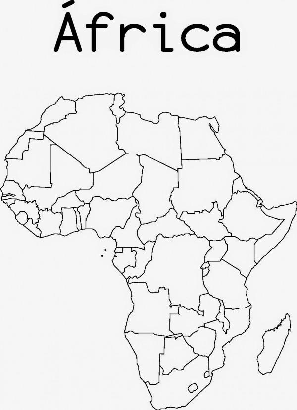 Dibujos de Mapas de Africa y Paises para colorear | Colorear imágenes