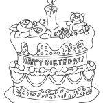 60 Dibujos de Feliz Cumpleaños para colorear