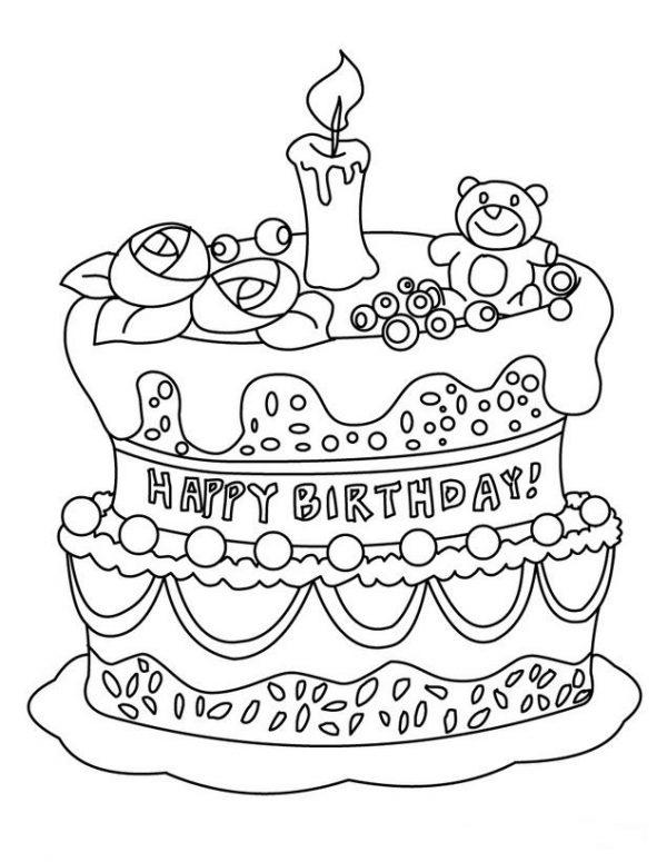 60 Dibujos De Feliz Cumpleaños Para Colorear Colorear Imágenes