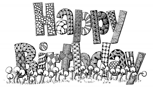 60 dibujos de feliz cumplea os para colorear colorear - Mandala anniversaire ...