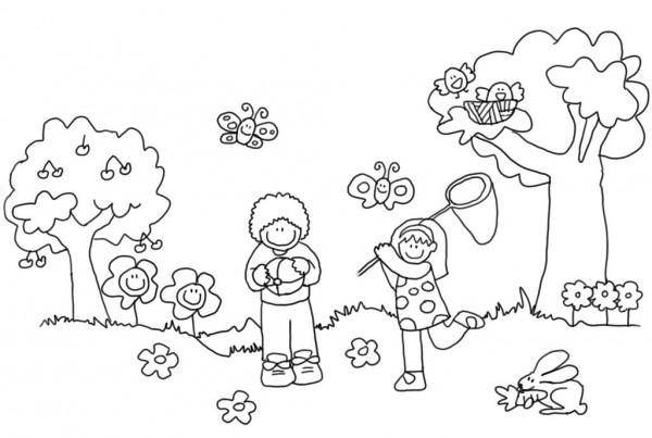 Imágenes De La Primavera Dibujos Para Colorear Colorear Imágenes