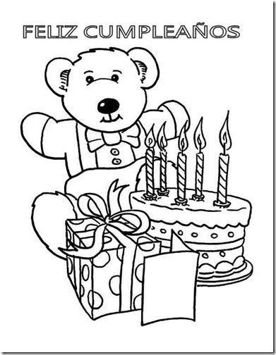 60 Dibujos de Feliz Cumpleaños para colorear | Colorear imágenes