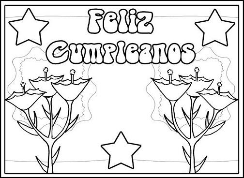 Dibuja Y Colorea Torta De Cumpleaños: 60 Dibujos De Feliz Cumpleaños Para Colorear